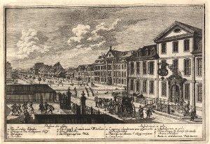 Georg Daniel Heumann: Wahre Abbildung der Stadt Göttingen (1747) - N. X. Prospect der Allee