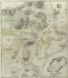 acurater Situation Plan von dem Hamelschen district, die Berg Vestung Klüth und auf eine Meile von Hamelen herum liegende örther, höltzungen, anhöhen, berge und gründe