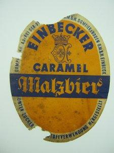 Bier-Etikett Einbecker Caramel Malzbier