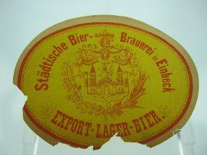 Bier-Etikett Einbecker Export-Lager-Bier