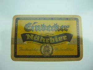 Bier-Etikett Einbecker Nährbier