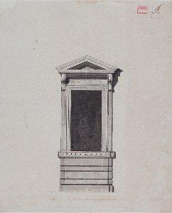 1. Obergeschossfenster des Palazzo Linotte, Rom