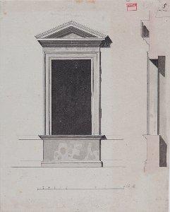 1. Obergeschossfenster des Palazzo Niccolini-Strozzi, Rom