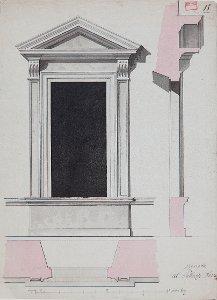 1. Obergeschossfenster des Palazzo Farnese an der Gartenfront