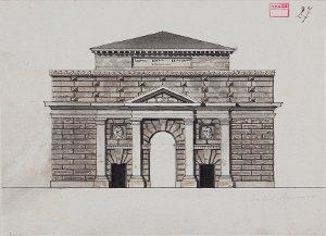Ansicht der Porta delle Citadelle in Mantua - Außenseite