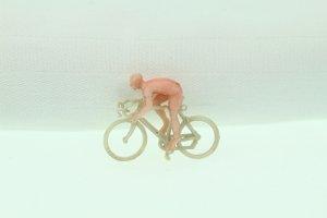 Miniatur-Rennrad mit Radler (Sammelfigur)