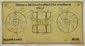 (Mühl-)Steine von 600 mm Durchmesser zum Vertikialmahlgang Nr. 6, 1923