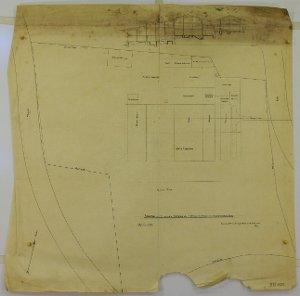 Lageplan zum Kienberger Gipswerk der Gewerkschaft Schweizer Gipsermeister aus Basel, 1905