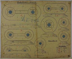 Ankerplatten unterschiedlicher Größe, 1891